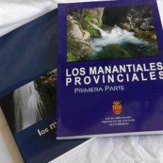Libros de segunda mano: LOS MANANTIALES PROVINCIALES, ALICANTE, 2 VOLÚMENES. Lote 292088178