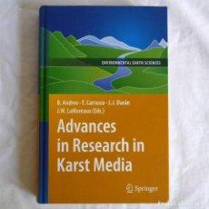 Livros em segunda mão: ADVANCES IN RESEARCH IN KARST MEDIA, SPRINGER, 2010, EN INGLÉS. Lote 292089893