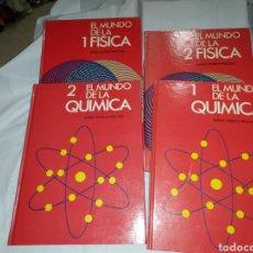 Libros de segunda mano de Ciencias: EL MUNDO DE LA FISICA Y DE LA QUIMICA CURSO TEORICO PRACTICO 4 TOMOS.EDICIONES OCEANO BARCELONA 1982. Lote 293793618