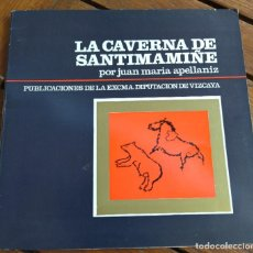 Libros de segunda mano: LA CAVERNA DE SANTIMAMIÑE. J.Mª APELLANIZ. VIZCAYA, 1969.. Lote 294807818