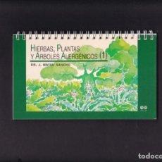 Libros de segunda mano: HIERBAS, PLANTAS Y ARBOLES ALERGÉNICOS - DR. J. MATEU SANCHO & GRUPO FERRER 1999. Lote 295047933