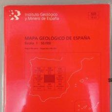 Libros de segunda mano: MAPA GEOLÓGICO DE ESPAÑA ESCALA 1 : 50.000. Nº 559. MADRID. INST. GEOLÓGICO MINERO DE ESPAÑA, 2004.. Lote 296623568