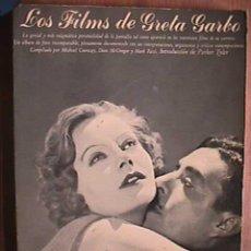 Libros de segunda mano: LOS FILMS DE GRETA GARBO, AYMA, 1979. Lote 17676763