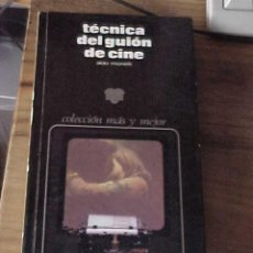 Libros de segunda mano: TECNICA DEL GUION DE CINE. ALDO MONELLI. COLECCION MAS Y MEJOR ZEUS. 2ª EDICION *. Lote 18531150