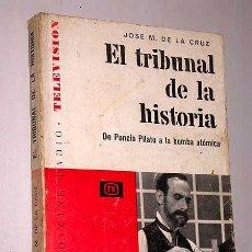 Libros de segunda mano: EL TRIBUNAL DE LA HISTORIA. JOSÉ M DE LA CRUZ. VOZ IMAGEN Nº 2, SERIE TV. AYMA EDITORA 1962. GUIONES. Lote 26656858
