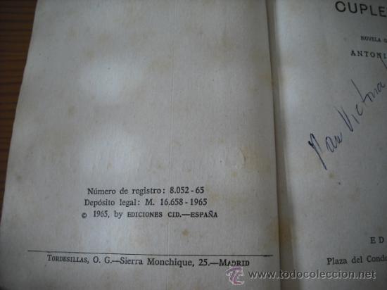 Libros de segunda mano: LA HISTORIA DE UNA CUPLETISTA ( IMPERIO ARGENTINA ) DE ANTONIO LOSADA . VER FOTOS - Foto 7 - 26529781
