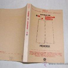 Libros de segunda mano: ENCUENTRO CINE EUROPEO EN EUROPA. FEDERACIÓN EUROPEA DE REALIZADORES AUDIOVISUALES (FERA RM29985. Lote 29296048
