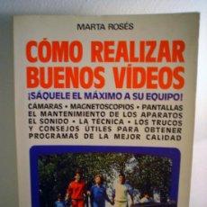 Libros de segunda mano: COMO REALIZAR BUENOS VIDEOS. Lote 31030074