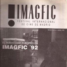 Libros de segunda mano: LIBRO DE CINE-CATALOGO IMAGFIC 1992-FESTIVAL CINE FANTASTICO MADRID-. Lote 31091327