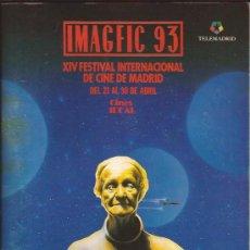 Libros de segunda mano: LIBRO DE CINE-CATALOGO IMAGFIC 1993-FESTIVAL CINE FANTASTICO MADRID-. Lote 31091339