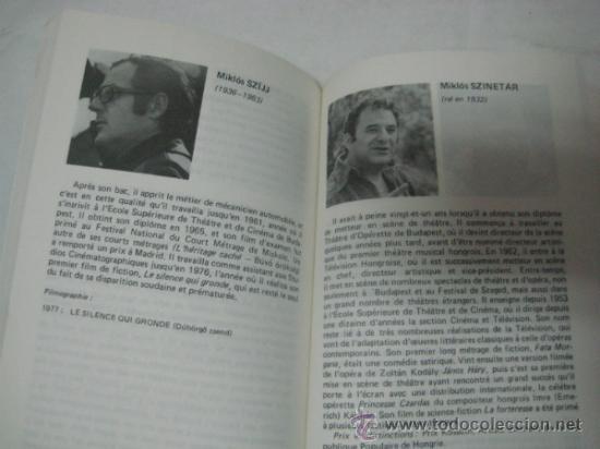 Libros de segunda mano: CINE. HUNGRIA. REALIZADORES HÚNGAROS. EN FRANCÉS. 1948 - 1983. - Foto 2 - 31396051