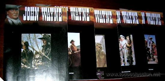 JOHN WAYNE.5 FASCICULOS (Nº1º,2º,3º,4º Y 6º) PELICULAS WESTERN EDC.PLANETA AGOSTINI. ENVÍO PAGO (Libros de Segunda Mano - Bellas artes, ocio y coleccionismo - Cine)