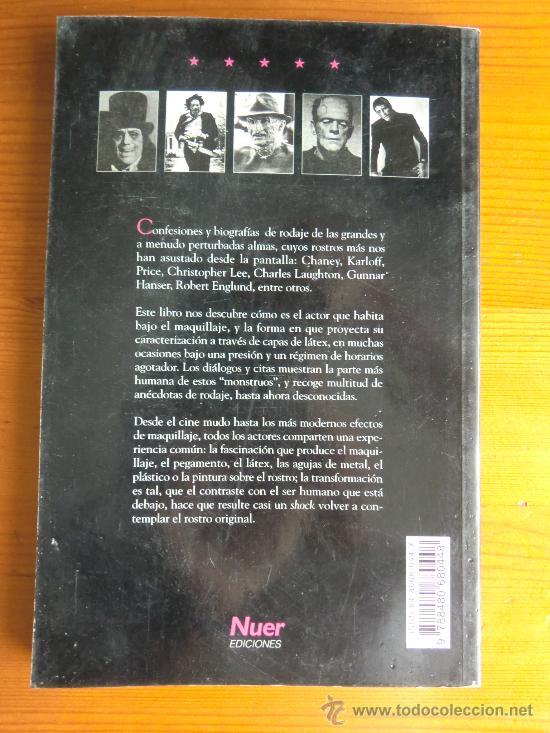 Libros de segunda mano: Libro MONSTRUOS SAGRADOS, Grandes actores en la historia del cine de terror (1998) de Doug Bradley - Foto 2 - 33288970