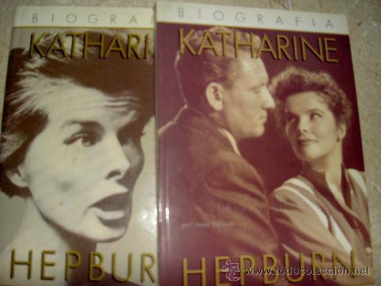 KATHARINE HEPBURN. ANNE EDWARS. 2 TOMOS.COMPLETA (Libros de Segunda Mano - Bellas artes, ocio y coleccionismo - Cine)