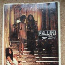 Libros de segunda mano: FELLINI POR FELLINI (1978). EDITORIAL FUNDAMENTOS. EDICIÓN DIFÍCIL DE ENCONTRAR.. Lote 34201396