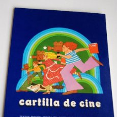 Libros de segunda mano: CARTILLA DE CINE AÑO 1976 ESTA NUEVO SIN USAR. Lote 35395376