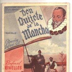 Libros de segunda mano: NOVELA CINEMATOGRÁFICA DON QUIJOTE DE LA MANCHA. Lote 37980700