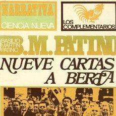 Libros de segunda mano: BASILIO MARTIN PATINO. NUEVE CARTAS A BERTA. MADRID. 1968.. Lote 38422497