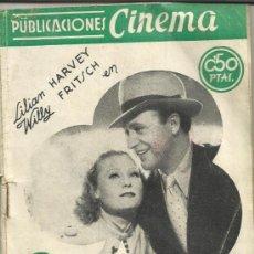 Libros de segunda mano: EL TRIO DE LA FORTUNA. ARGUMENTO DE PELÍCULA. PUBLICACIONES CINEMA. BARCELONA. MUY ANTIGUO. Lote 38869799