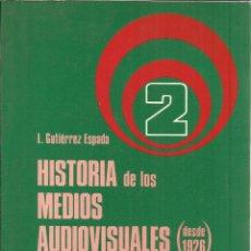 Libros de segunda mano: HISTORIA DE LOS MEDIOS AUDIOVISUALES. CINE Y FOTOGRAFÍA. L. GUTIÉRREZ ESPADA. PIRÁMIDE. MADRID. 1980. Lote 39613932