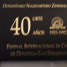 Libros de segunda mano: 40 AÑOS (1953-1992) FESTIVAL INTERNACIONAL DE CINE DE DONOSTIA-SAN SEBASTIAN.. Lote 39729264