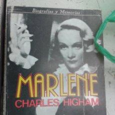 Libros de segunda mano: MARLENE DIETRICH ESTRELLA CINE ALEMÁN AMERICANO HOLLYWOOD BIOGRAFÍA CHARLES HIGHAM. Lote 40185518