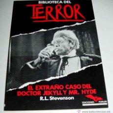 Libros de segunda mano: ANTIGUO LIBRO BIBLIOTECA DEL TERROR Nº 9 - EL EXTRAÑO CASO DEL DOCTOR JEKYLL Y MR. HYDE, POR R. L. S. Lote 38254199