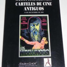 Libros de segunda mano - Antiguo catalogo subasta extraordinaria CARTELES DE CINE ANTIGUOS, 13 de Diciembre 2001, casa de sub - 38277128