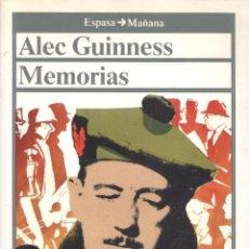 Libros de segunda mano: ALEC GUINNESS, MEMORIAS. MADRID, 1987. CINE. Lote 41297605
