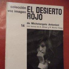 Libros de segunda mano: EL DESIERTO ROJO. MICHELANGELO ANTONIONI. AYMÁ S. A. EDITORA. 1ª ED. BARCELONA. 1965.. Lote 42067875