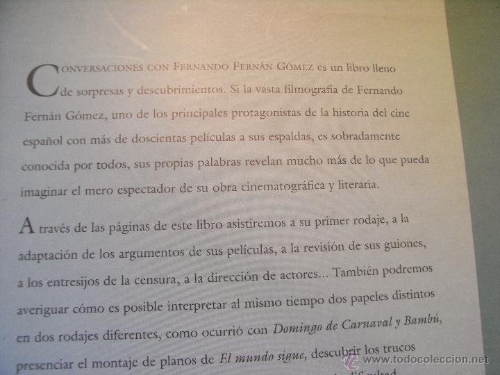 Libros de segunda mano: CONVERSACIONES CON FERNANDO FERNAN GOMEZ - E. BRASÓ - Foto 9 - 42186630