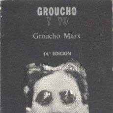 Libros de segunda mano: GROUCHO MARX. GROUCHO Y YO. BARCELONA, 1989. CINE. Lote 42369248