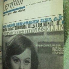 Libros de segunda mano: GRIFFITH REVISTA DE CINE. COMPLETA Nº 1 A 6 - ARTE NUEVO REVISTA CINEMATOGRAFICA Nº 1 Y 2 AÑO 1958. Lote 43490533