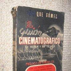 Libros de segunda mano: EL GUIÓN CINEMATOGRÁFICO, SU TEORÍA Y SU TÉCNICA. ENRIQUE GÓMEZ Y RAFAEL GIL, 1944. Lote 44669914
