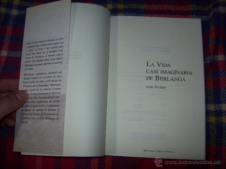 Libros de segunda mano: LA VIDA CASI IMAGINARIA DE BERLANGA.JOAN ÁLVAREZ.EDITORIAL PRENSA IBÉRICA.1ª EDICIÓN 1996.VER FOTOS. - Foto 2 - 44723954