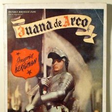 Libros de segunda mano: JUANA DE ARCO - BERGMAN, INGRID - EDICIONES BIBLIOTECA FILMS - ALAS - AÑOS 1940. Lote 29397588