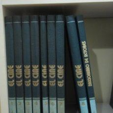 Libros de segunda mano: EL CINE. ENCICLOPEDIA DEL 7º ARTE. 8 TOMOS + DICCIONARIO DE ACTORES. EDITORIAL BURU LAN. Lote 46174435
