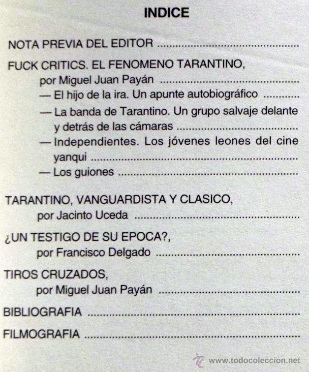 Libros de segunda mano: QUENTIN TARANTINO - DELGADO Y OTROS- ANÁLISIS DEL POLÉMICO DIRECTOR DE CINE - FUCK CRITICS ETC LIBRO - Foto 3 - 46617370