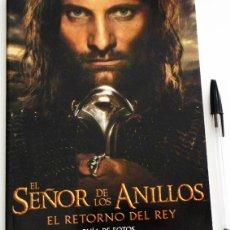 Libros de segunda mano: EL SEÑOR DE LOS ANILLOS RETORNO DEL REY GUÍA FOTOS D PELÍCULA CINE JRR TOLKIEN VIGGO MORTENSEN LIBRO. Lote 48590373