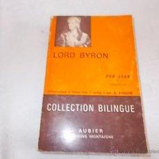 Libros de segunda mano: LORD BYRON DON JUAN. Lote 49973377