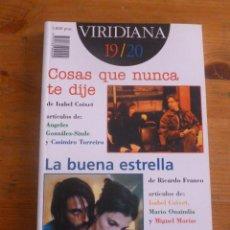 Libros de segunda mano: VIRIDIANA 19.20. 1998 218 PAG. Lote 50057504