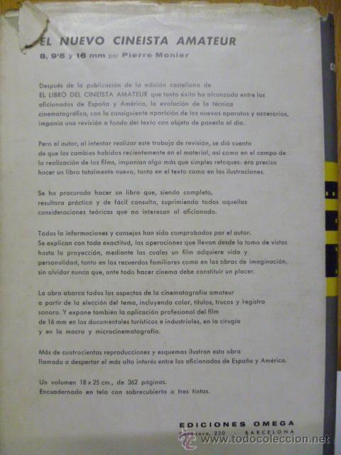 Libros de segunda mano: COMO CONSTRUIR UN FILM 8 MM, 95, 16 DEL ESCENARIO A LA PROYECCION.GEORGES REGNIER. 1958. 213 PAG - Foto 6 - 50373631