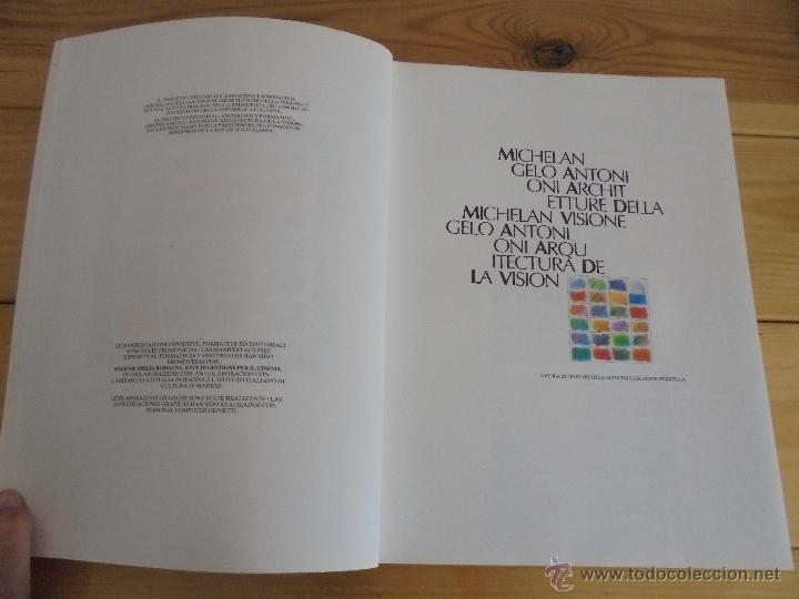 Libros de segunda mano: MICHELANGELO ANTONIONI ARCHITETTURE DELLA VISIONE. EDICION ITALIANO-ESPAÑOL. VER FOTOS ADJUNTAS. - Foto 7 - 50722062