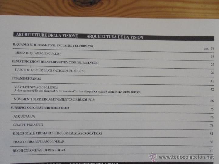 Libros de segunda mano: MICHELANGELO ANTONIONI ARCHITETTURE DELLA VISIONE. EDICION ITALIANO-ESPAÑOL. VER FOTOS ADJUNTAS. - Foto 22 - 50722062