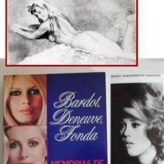 Libros de segunda mano: BARDOT DENEUVE FONDA - MEMORIAS DE ROGER VADIM LIBRO ACTRIZ CINE FOTOS BRIGITTE JANE CATHERINE MITO. Lote 50725598