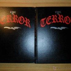 Libros de segunda mano: COLECCIÓN CINE DE TERROR COMPLETA (40 FASCÍCULOS EN DOS TOMOS). Lote 50775323