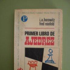 Libros de segunda mano: PRIMER LIBRO DE AJEDREZ. Lote 52449280