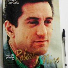 Libros de segunda mano: TODAS LAS PELÍCULAS DE ROBERT DE NIRO - LIBRO ANTOLOGÍA DEL CINE CLÁSICO - ACTOR EEUU - FOTOS DATOS. Lote 210813562