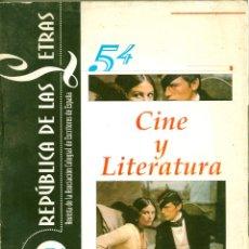 Libros de segunda mano: CINE Y LITERATURA. Lote 53178292