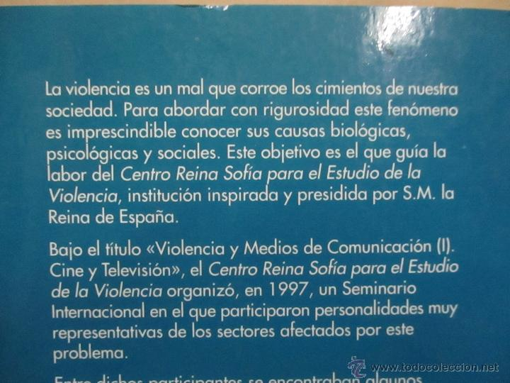 Libros de segunda mano: Violencia, televisión y cine - José Sanmartín, Centro de Arte Reina Sofía - Foto 4 - 53583328
